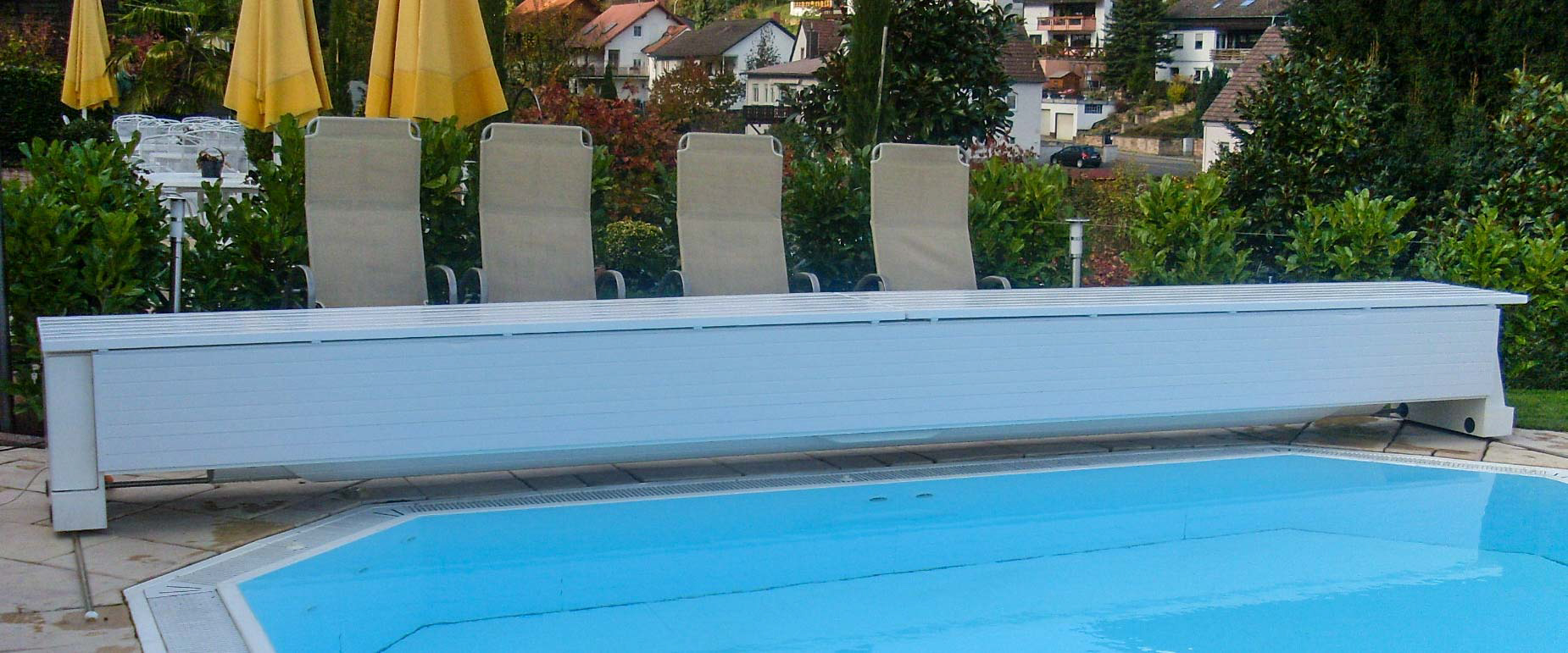 Automatic Rigid Pool Cover System Type Mobile Grando