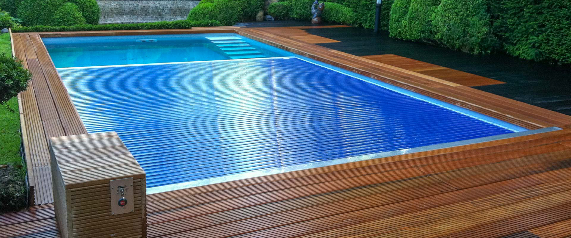 Automatic rigid pool cover system type ibs 9 grando for Automatic pool cover motor replacement